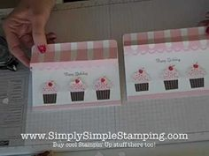 ▶ Simply Simple FLASH CARD 2.0 Cupcake Store Front by Connie Stewart - YouTube