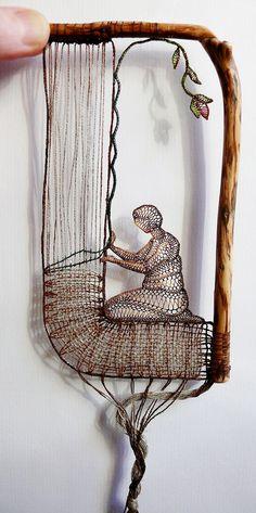 Something quite interesting...Needle Lace by Ágnes Herczeg.