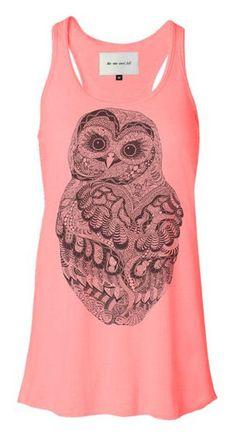 Baby Owl Tank Dress <3