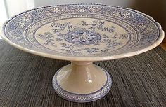 Antique-Staffordshire-Aesthetic-Blue-Transfer-Compote-Footed-Dish-Pedestal-1800s