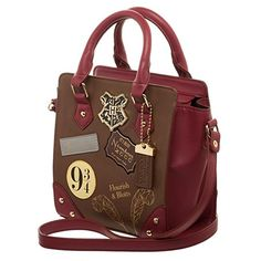 Check it out Potter Heads! Harry Potter 9 Deluxe Mini Brief Handbag Purse Satchel (One Size, Burgundy) Mochila Harry Potter, Sac Harry Potter, Bijoux Harry Potter, Harry Potter Accesorios, Objet Harry Potter, Cadeau Harry Potter, Harry Potter Merchandise, Harry Potter Outfits, Harry Potter Hogwarts