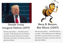 """Donald Trump Did Not Quote """"Bee Movie"""" In His Inaugural Address - BuzzFeed News"""