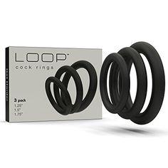 Lynk Pleasure Products Super Soft Erection Enhancing Black Cock Ring 3 Pack - 100% Medical Grade Pure Silicone Penis Ring Set for Extra Stimulation for Him - Bigger, Harder, Longer Penis