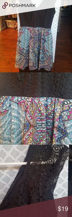 sun dress Awesome print, used. See pictures. Xhilaration Dresses Midi