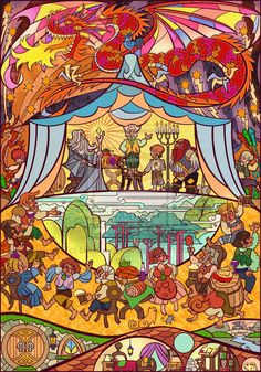 Lord of the Rings Trilogy, Stained Glass Illustrations: Bilbo Baggins 111th Birthday