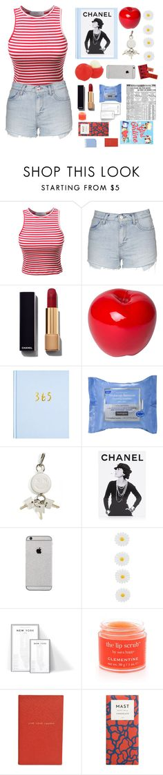 """xD"" by m-alai ❤ liked on Polyvore featuring LE3NO, Eos, Topshop, Chanel, Bitossi, Neutrogena, Alexander Wang, Assouline Publishing, Monsoon and Sara Happ"