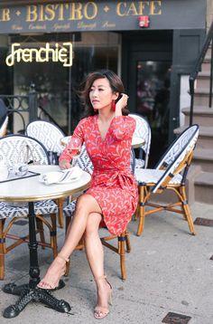 A little Paris in Boston // Classic Wrap Dress + Tassel Earrings