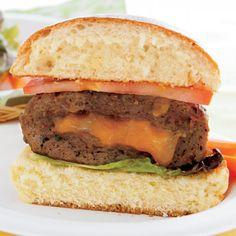 Cheese Stuffed Burgers - Delish