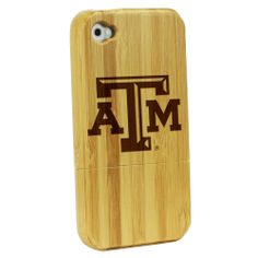 Texas A&M Aggies - Bamboo Case for iPhone® 4/4S: Cell Phones & Accessories
