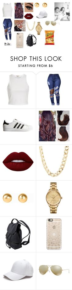 """""""~a day with baee~"""" by tashiralopez14 ❤ liked on Polyvore featuring beauty, River Island, adidas Originals, Lime Crime, Charlotte Russe, Snö Of Sweden, Lacoste, Casetify and Ray-Ban"""