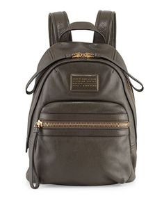 V23SB MARC by Marc Jacobs Third Rail Leather Backpack, Dirty Martini