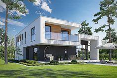 Zdjęcie projektu Kubiczny D30 WWB1028 Plans Architecture, Interior And Exterior, Interior Design, Design Case, House 2, Cabana, Le Corbusier, Terrace, Home Fashion