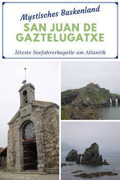 Die vorletzte Etappe meiner Wohnmobil-Reise führt vom Baskenland über die mystische Kapelle San Juan de Gaztelugatxe ins charmante Biarritz. #wohnmobilreise #atlantik #baskenland #kapelle #insel #küste #seefahrer San Juan, Explore, Island