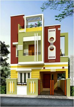 Little House Plans, 2bhk House Plan, Model House Plan, Dream House Plans, House Front Wall Design, House Main Gates Design, Bungalow House Design, House Elevation, Front Elevation