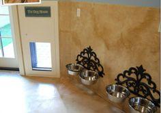 Raised dog bowls!  Love!