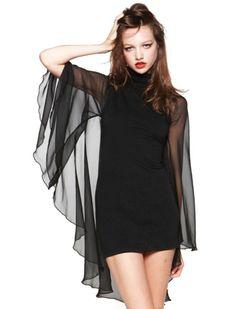 Cape Sleeved Mini Dress, Want!