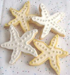 Boda playa galletas con forma de estrella de mar para regalar a los invitados