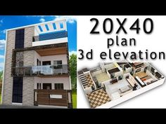 House plane with elevation by nikshail 2bhk House Plan, 3d House Plans, Indian House Plans, House Outside Design, House Front Design, Small House Design, 800 Sq Ft House, 30x40 House Plans, East Pakistan
