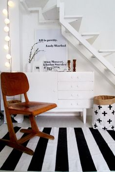 #retro #blackandwhite #chair Photo & design by Merci-Ancsa dekor
