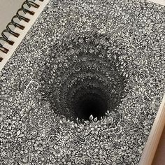Impossibly Tiny Doodles Fill Sketchbook Pages with Surreal Optical Illusions