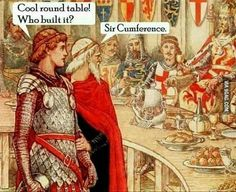 The lord of round shape. Follow @9gag @9gagmobile #9gag #pun #arthur #merlin #knight