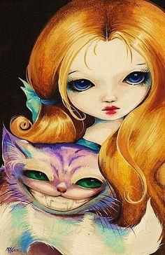 Wonderland:  #Alice and the #Cheshire #Cat, Nico Niemi.