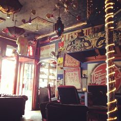 A bright Bohemian Cafe in Brick Lane, London