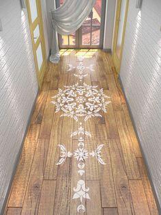 Floor Stencil Symmetric Mandala Stencil by StencilsLabNY on Etsy