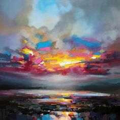 Scott Naismith, the wonders of a palette knife - I loved my palettes knives for painting with in 6th year! Beautiful colours used here.