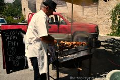 The bbq man in the village, brilliant during the summer for Sunday Lunch. The smell is intoxicating