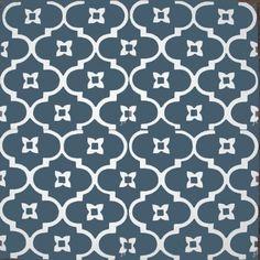 moorish night smokey blue-reproduction tile for the bathroom foors :-) Kitchen Splashback Tiles, Bathroom Floor Tiles, Backsplash, Victorian Tiles, Antique Tiles, Interior Styling, Interior Decorating, Interior Design, Spanish Home Decor