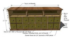 I want to make this! DIY Furniture Plan from Ana-White.com This beautiful apothecary console features three open cubbies perfect for storing entertainment controllers, four drawers and two cabinets, all concealed by door fronts that look like an apothecary cabinet. Loved by so many, this console is easy to build and can add that touch of character to your family room.