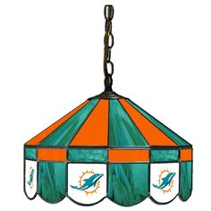 """The Miami Dolphins 16"""" Glass Lamp"""