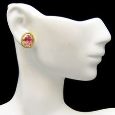 PRETTY PINK POSTS! Lovely Monet post earrings with beautiful pink rhinestones. $34.95