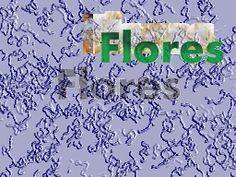 folhas e flores outono azul