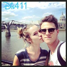 Photo: Bridgit Mendler Gave Shane Harper A Kiss On The Cheek In London June 9, 2014