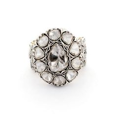 SOLITAIRE DIAMOND SILVER VINTAGE LOOK FINE RING JEWELRY $7,920- yes please!