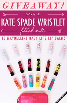 18 New York New York Baby Lips + a Kate Spade wristlet Giveaway! // Click this pin to enter for a chance to win Kiss Makeup, Cute Makeup, Baby Lips Maybelline, Birthday Wishes For Myself, Kissable Lips, Makeup Tattoos, Beauty Tutorials, Krystal, Lipsticks
