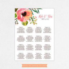 Wedding Seating Chart Kyle  Digital File by replybydesignstudio
