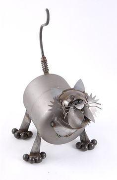 Metal Yard Art: Yardbirds Junkyard Cats