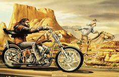 """Easyriders 45th Anniversary Ghost Rider "" - Limited Editions - All Artwork - David Mann - Rally Fine Art 