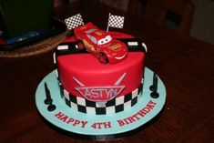 Cars Themed Birthday Cake on Cake Central