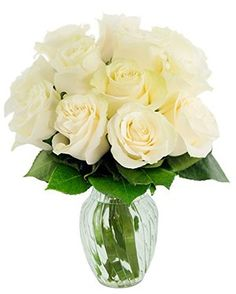 Kabloom Valentine's Day Collection: Bouquet of 12 Fresh White Roses (Farm-Fresh, Long-Stem) with Vase Be My Valentine, Valentine Day Gifts, Diy Valentine's Ornaments, Valentine Decorations, Flower Delivery, Corporate Gifts, The Fresh, White Roses, Mother Day Gifts