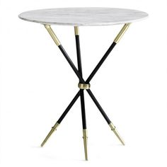 black and brass rider tripod table