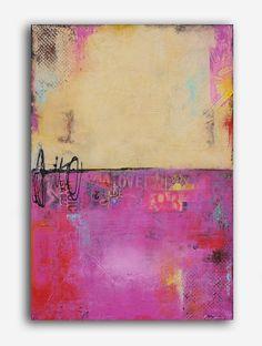 Pintura abstracta original por erinashleyart en Etsy                                                                                                                                                                                 Más