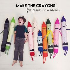 Make the Crayons free pattern and tutorial // chelise patterson