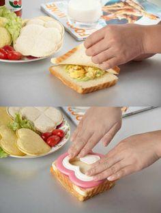 Heart Shape Sandwich Mold Maker Lovely Bread Cutter DIY Breakfast Cutter Tools | eBay