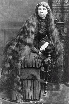 All these long hair photos seem kind of weird and voyeuristic. Most ladies pinned their hair up to go out, and knowing the Victorian appetite for voyeurism, I can't help but wonder if the unbound hair was to some extent fetishized.