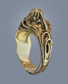 LOUIS ZORRA Art Nouveau Ring image 4