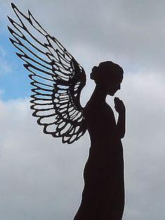 Edelrost Engel Santine 130 cm Dekoration Garten Deko Skulptur Figur Flügel Rost